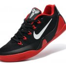Nike 646701-100 Kobe 9 EM Low Black Red White Mens Basketball Shoes