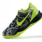 Cheap Nike Kobe VIII 8 2014 Rattlesnake Black Green Basketball Shoes