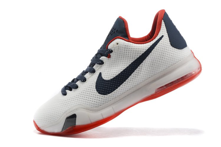 timeless design 3333f 0b8c5 56495 eb95f  sweden 2015 new nike zoom kobe x 10 white navy red men  basketball shoes c147c e98f7