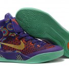 Nike Zoom Kobe 9 EM Mid top women purple orange basketball shoes