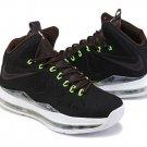 Nike Lebron 10 2013 Black White Green mens basketball shoes