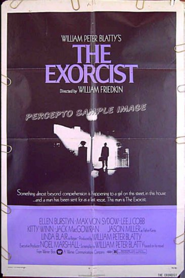 The EXORCIST ~ Orig Release '74 1-Sheet Movie Poster ~ LINDA BLAIR / ELLEN BURSTYN / MAX VON SYDOW
