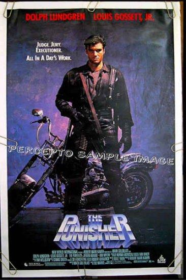 PUNISHER  '90 1-Sheet Movie Poster!  MARVEL COMICS / DOLPH LUNDGREN