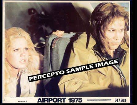 AIRPORT 1975  ~ Orig Color DISASTER MOVIE Photo ~ CHRISTOPHER NORRIS / KAREN BLACK