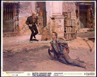 BUTCH CASSIDY AND THE SUNDANCE KID ~ Orig R73 Shootout Movie Photo ~ Paul NEWMAN / Robert REDFORD
