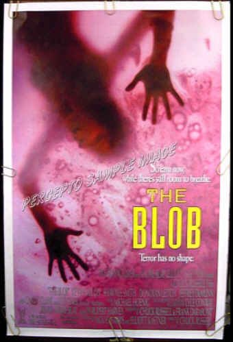 THE BLOB  Ex-Cond '88 1S HORROR Movie Poster!  KEVIN DILLON