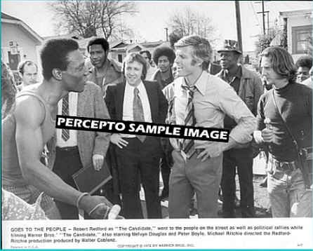 THE CANDIDATE  ~ Orig '72 Movie Photo ~  Voters with ROBERT REDFORD