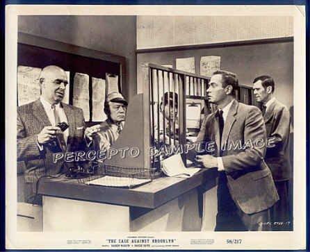 CASE AGAINST BROOKLYN ~  '58 Noir Movie Photo ~  DARREN McGAVIN