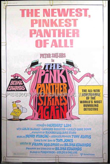 PINK PANTHER STRIKES AGAIN ~ '76 40x60 Movie Poster ~ INSPECTOR CLOUSEAU / PETER SELLERS