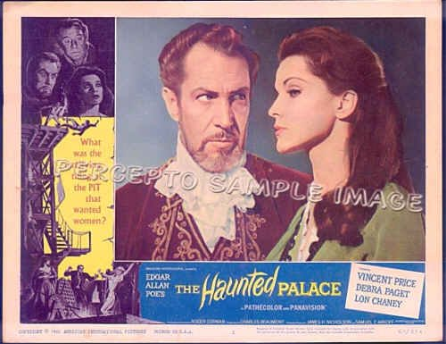 HAUNTED PALACE ~  '63 COMPLETE SET OF 8 Orig Lobby Cards ~  ROGER CORMAN / VINCENT PRICE