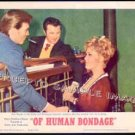 OF HUMAN BONDAGE ~  &#39;64 Ex-Cond Color Movie Lobby Card ~   KIM NOVAK
