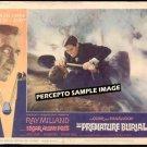 PREMATURE BURIAL ~  '62 AIP POE HORROR Movie Lobby Card ~  ROGER CORMAN / RAY MILLAND