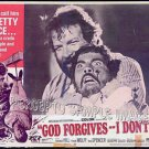 GOD FORGIVES I DON'T! ~  '69 AIP Action Movie Lobby Card ~  BUD SPENCER