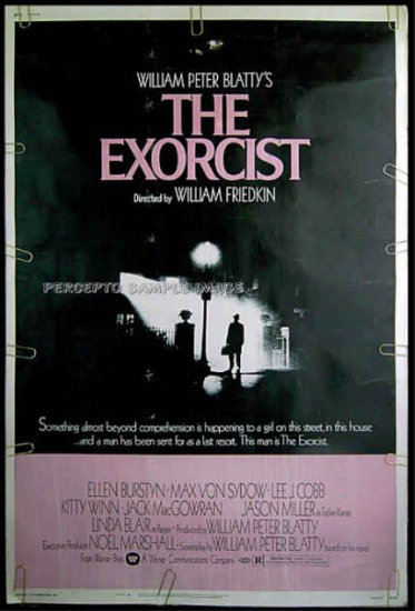 EXORCIST  1974 Rare-Size 40x60 Movie Poster!   LINDA BLAIR