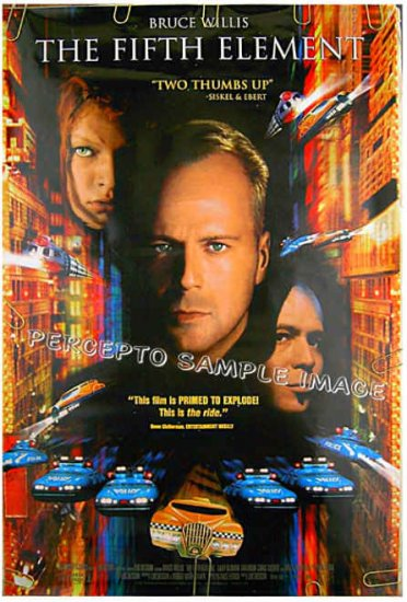 The FIFTH ELEMENT ~ '97 Sci-Fi 1-Sheet Movie Poster ~  BRUCE WILLIS / GARY OLDMAN / MILLA JOVOVICH