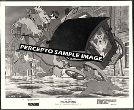 LADY AND THE TRAMP ~ Orig '72 WALT DISNEY Animation Movie Photo ~ TRAMP & DOGCATCHER