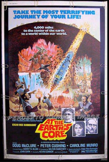 AT THE EARTH'S CORE  - Rare-Size AIP SCI-FI 40x60 Movie Poster! - DOUG McCLURE / CAROLINE MUNRO