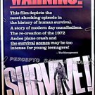 SURVIVE ! ~ Ex-Cond '76 Rare Size 40x60 Movie Poster ~ ANDES CANNIBALS / PLANE CRASH