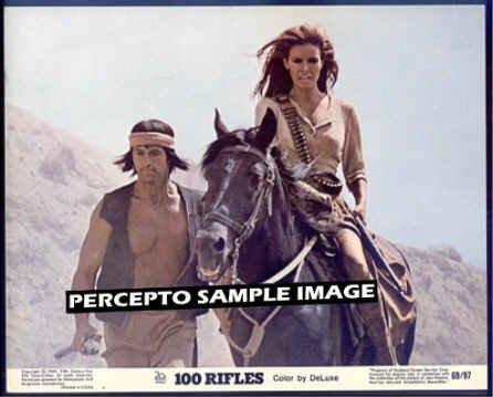 100 RIFLES ~ Orig '69 Movie Photo ~ On Horseback RAQUEL WELCH