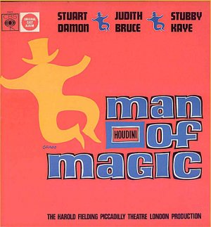 HOUDINI Man Of Magic ~ RARE 1966 London Cast Vinyl LP ~ STUART DAMON / JUDITH BRUCE / STUBBY KAYE