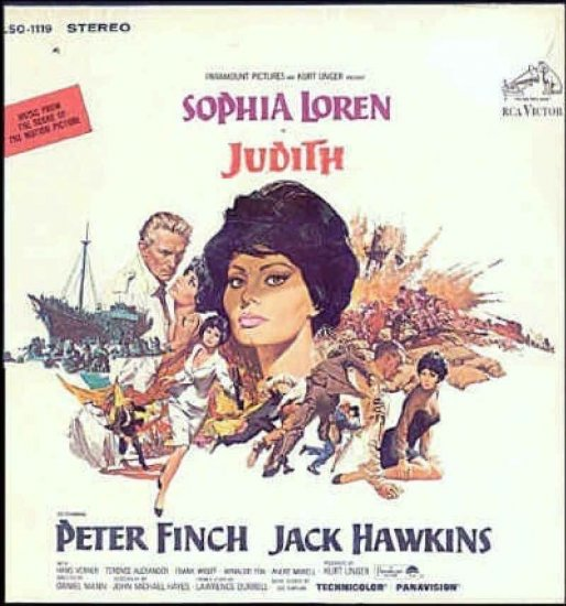 JUDITH  ~ NEW Out-Of-Print '66 SOPHIA LOREN Movie Soundtrack Vinyl LP ~ SOL KAPLAN