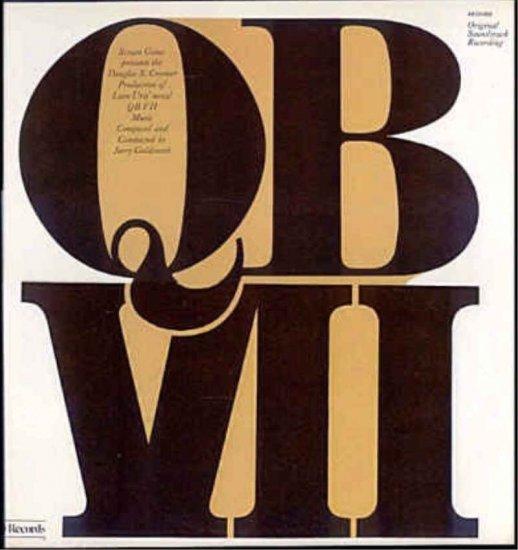 QB VII ~  Rare OUT OF PRINT '74 TV MOVIE SCORE Vinyl LP ~ JERRY GOLDSMITH