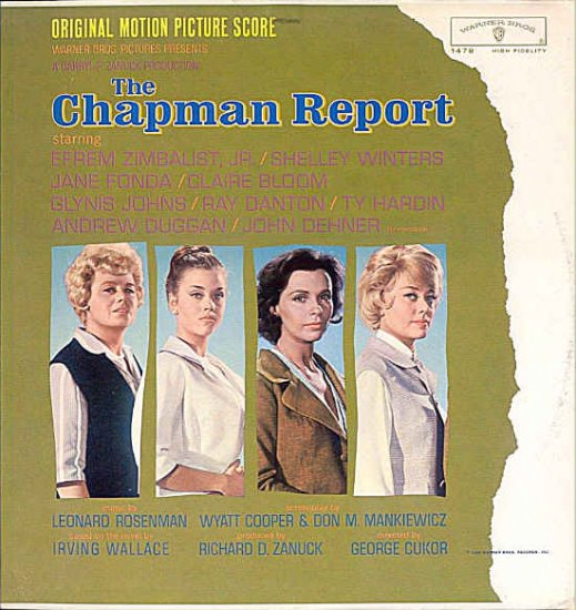The CHAPMAN REPORT ~ Nr Mint '62 JANE FONDA Movie Soundtrack Vinyl LP ~ LEONARD ROSENMAN