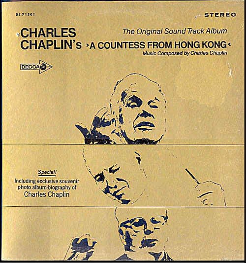 COUNTESS FROM HONG KONG ~ NEW '67 MARLON BRANDO Movie Soundtrack Vinyl LP ~ CHARLIE CHAPLIN
