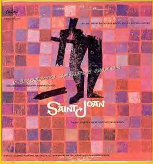 SAINT JOAN ~ 1957 OTTO PREMINGER Movie Soundtrack Vinyl LP ~ MISCHA SPOLIANSKY / SAUL BASS Cover Art