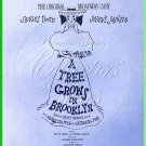 A TREE GROWS in BROOKLYN ~ '51 Orig Broadway Cast Vinyl LP ~ SHIRLEY BOOTH / JOHNNY JOHNSTON
