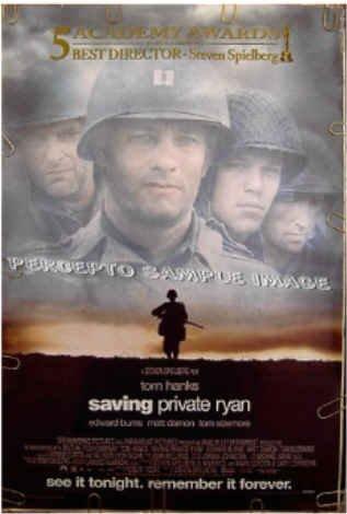 SAVING PRIVATE RYAN ~ '99 1-Sheet Movie Poster ~ STEVEN SPIELBERG / TOM HANKS / MATT DAMON