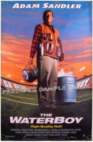 The WATERBOY ~ Orig '98 1-Sheet Movie Poster ~ ADAM SANDLER / ROB SCHNEIDER / KATHY BATES