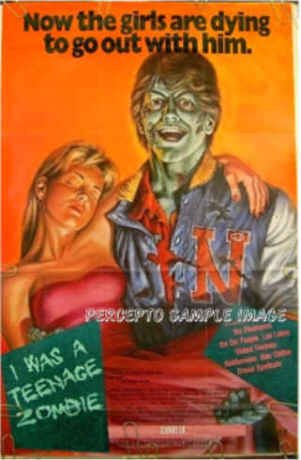 I WAS A TEENAGE ZOMBIE - RARE Ex-Cond '87 1-Sheet Horror Movie Poster - MICHAEL RUBIN / STEVE McCOY