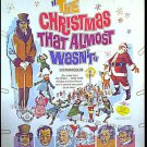 CHRISTMAS THAT ALMOST WASN'T ~ '66 Orig Release 40x60 Movie Poster ~ ROSSANO BRAZZI / SANTA CLAUS