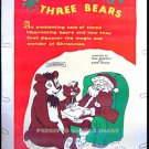 SANTA And The 3 BEARS ~ RARE '70 40X60 Animation Movie Poster ~ CHRISTMAS / HOLIDAY