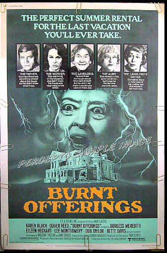 BURNT OFFERINGS - Rare-Size '76 40x60 Horror Movie Poster - BETTE DAVIS / KAREN BLACK