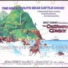 CASTAWAY COWBOY ~ '74 WALT DISNEY Half-Sheet Movie Poster ~ JAMES GARNER / VERA MILES / ROBERT CULP