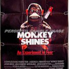MONKEY SHINES ~ '88 HORROR 1-Sheet Movie Poster ~ GEORGE ROMERO / JASON BEGHE / JOYCE VAN PATTEN