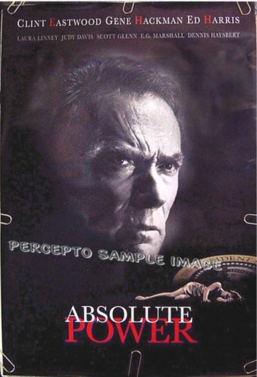 ABSOLUTE POWER ~ Ex-Cond '97 1-Sheet Movie Poster ~ CLINT EASTWOOD / GENE HACKMAN / ED HARRIS