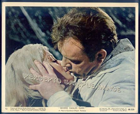 WHERE EAGLES DARE - Orig '68 Color Movie Photo - RICHARD BURTON / MARY URE