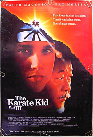 KARATE KID III - Orig '89 ADVANCE 1-Sheet Movie Poster - PAT MORITA