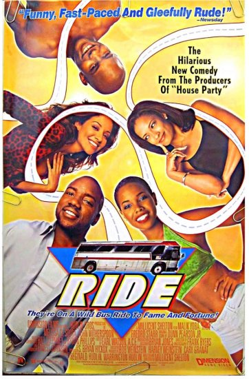 RIDE ~ '98 1-Sheet Movie Poster ~ John WITHERSPOON / Malik YOBA / Melissa De SOUSA / Fredro STARR