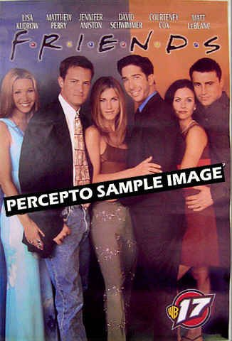 FRIENDS - 90s TV PROMO Cast Poster - JENNIFER ANISTON / COURTNEY COX