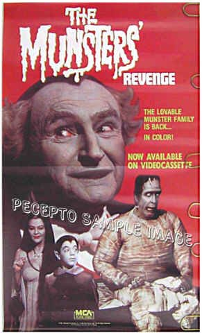 MUNSTERS REVENGE - '86 TV Movie Poster - FRED GWYNNE / AL LEWIS / YVONNE DeCARLO