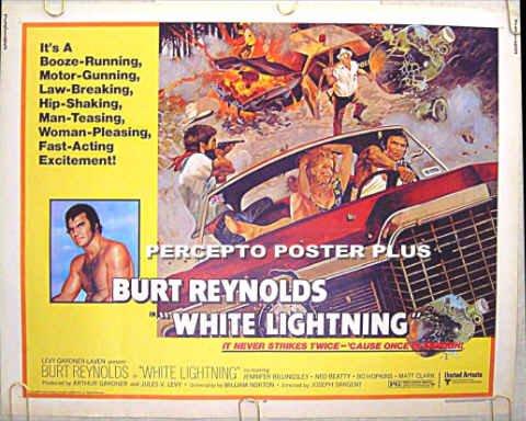 WHITE LIGHTNING - '73 Half-Sheet Movie Poster! - BURT REYNOLDS / NED BEATTY