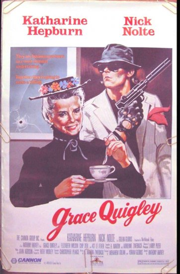 GRACE QUIGLEY  - Ex-Cond '85 1-Sheet Movie Poster - KATHARINE HEPBURN / NICK NOLTE