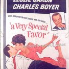 A VERY SPECIAL FAVOR ~ '65 1-Sheet Movie Poster ~ ROCK HUDSON / LESLIE CARON / CHARLES BOYER