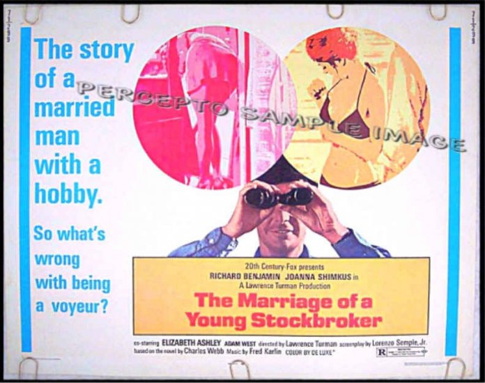 The MARRIAGE OF A YOUNG STOCKBROKER ~ Sexy '71 Half-Sheet Movie Poster ~ RICHARD BENJAMIN