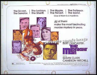 The MIDNIGHT MAN ~ '74 Half Sheet Movie Poster ~ BURT LANCASTER / SUSAN CLARK / CAMERON MITCHELL