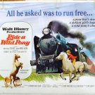 RIDE A WILD PONY ~ Fine-Cond Rolled '76 Half Sheet Movie Poster ~ WALT DISNEY